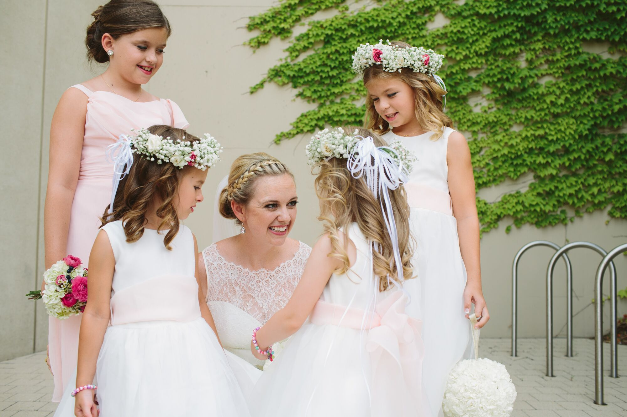 Braid Crown Bridal Hairstyle And Flower Girl Crowns