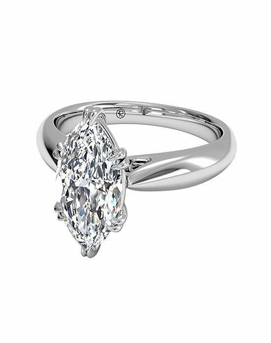 Ritani Marquise Cut Solitaire Diamond Tulip Cathedral Engagement Ring in Platinum Engagement Ring photo