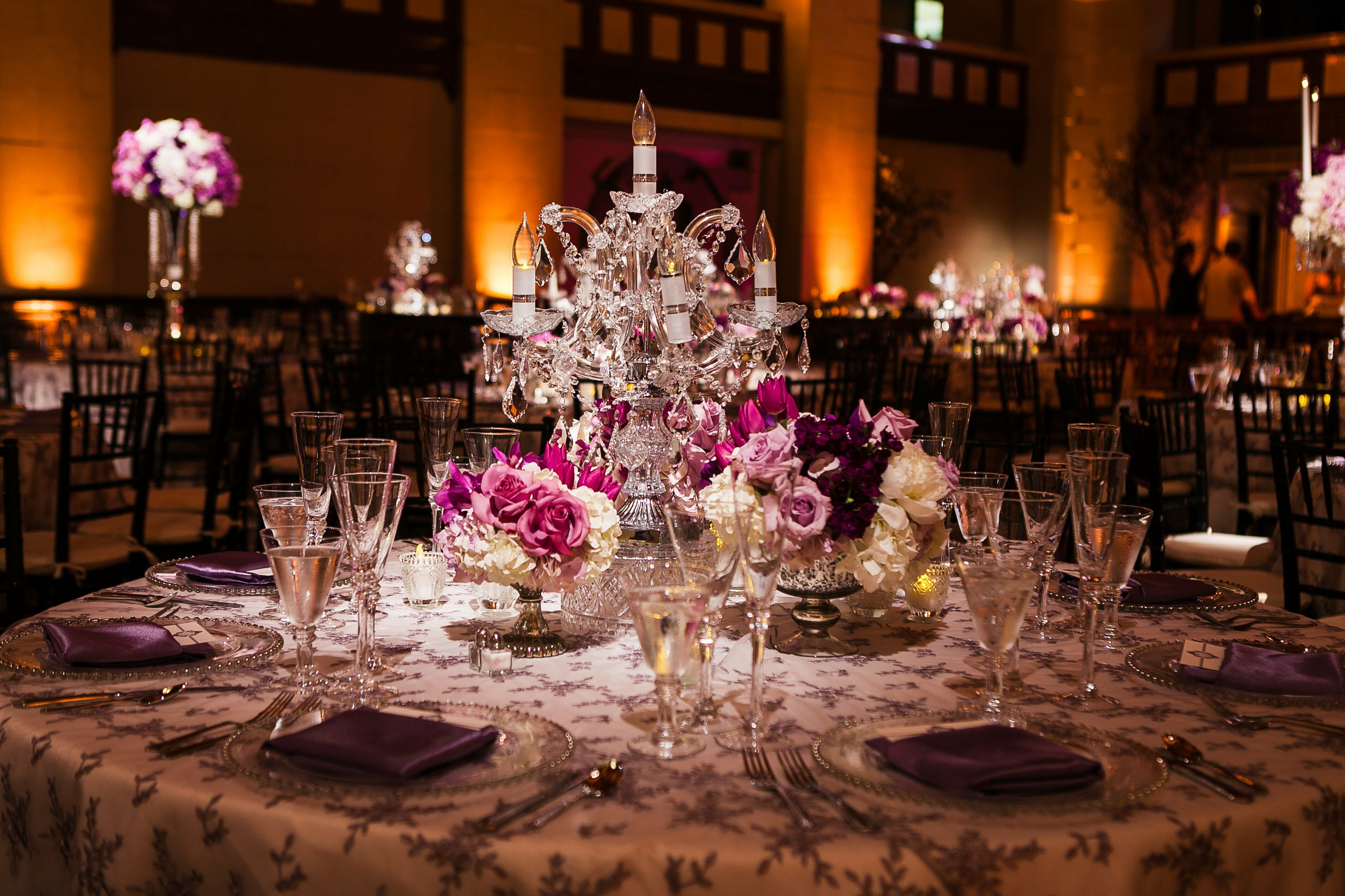 Small Candelabra Centerpieces : Candelabra centerpieces with small floral arrangements