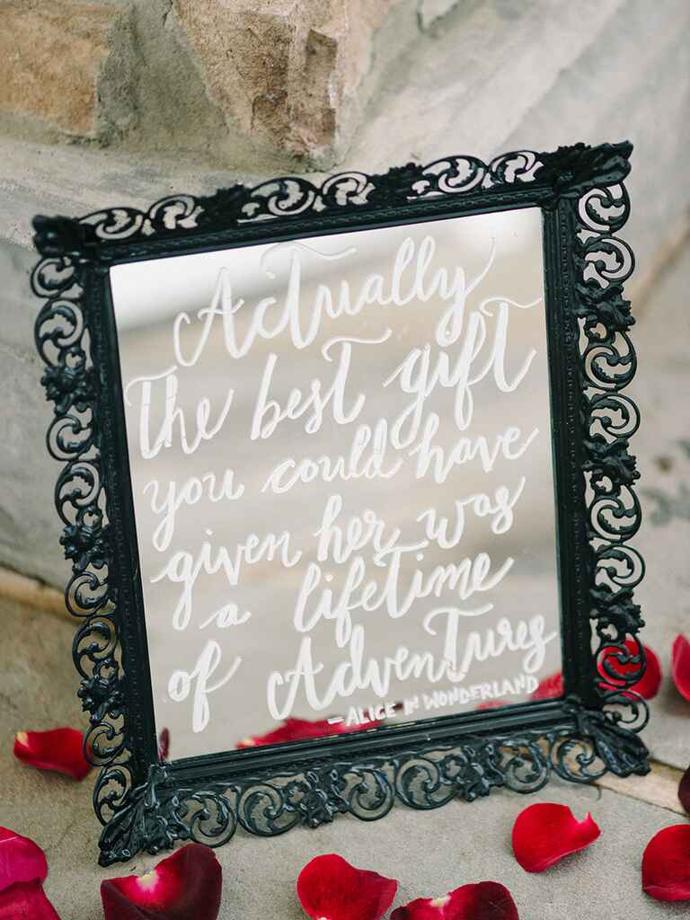 Wedding sign mirror