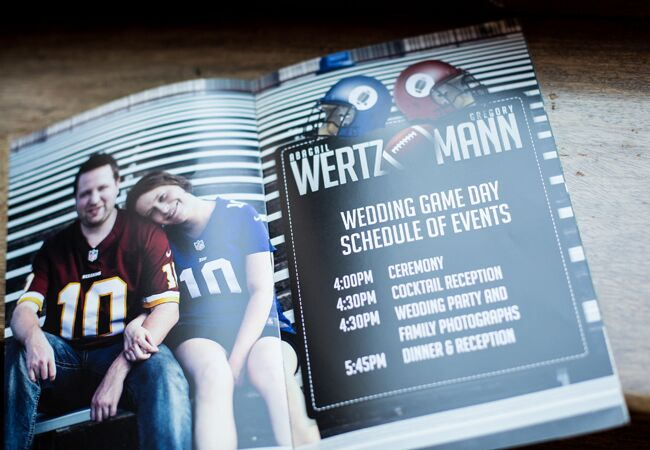 This Couple Really Loves Football And Their Wedding Proves It