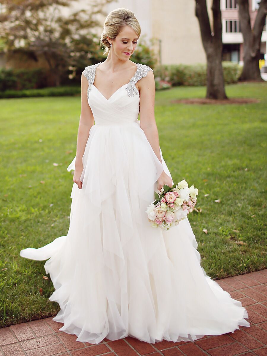25 Princess Wedding Gowns With Beading, Crystals and Embellishments