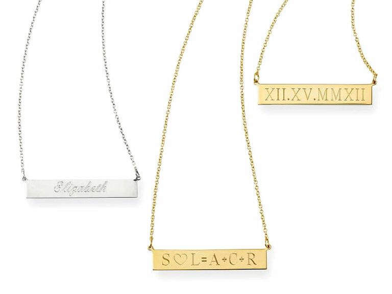 ID Necklace 10 year anniversary gift for her