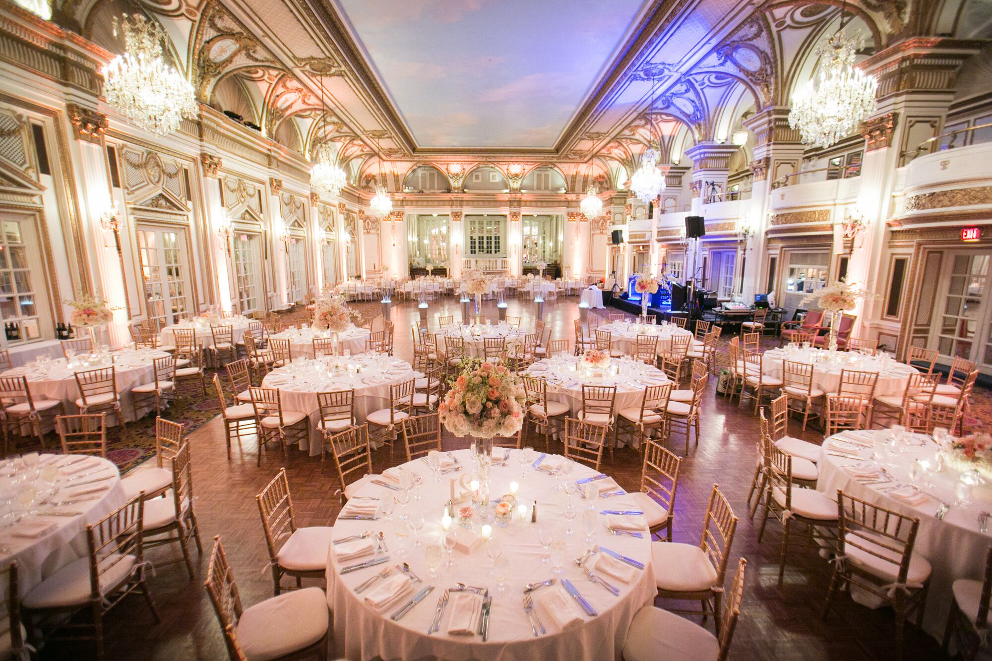 The Fairmont Copley Plaza Ballroom Wedding Reception