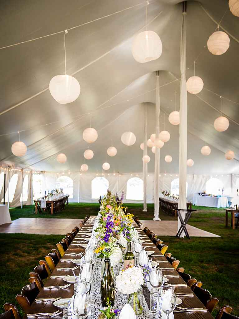 Prettiest outdoor wedding tent ideas