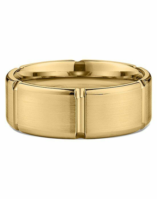 Ritani Men's Flat Satin-Finish Polished-Edge Wedding Ring in 18kt Yellow Gold Wedding Ring photo
