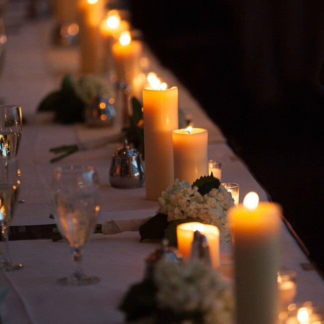 Long table candle centerpiece