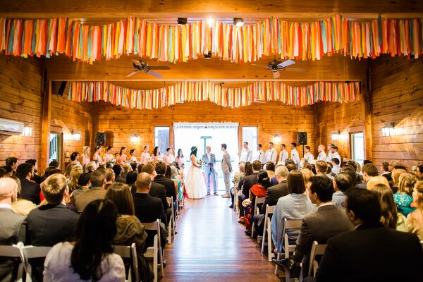 Indoor Wedding Ceremony at the Barn at Valhalla