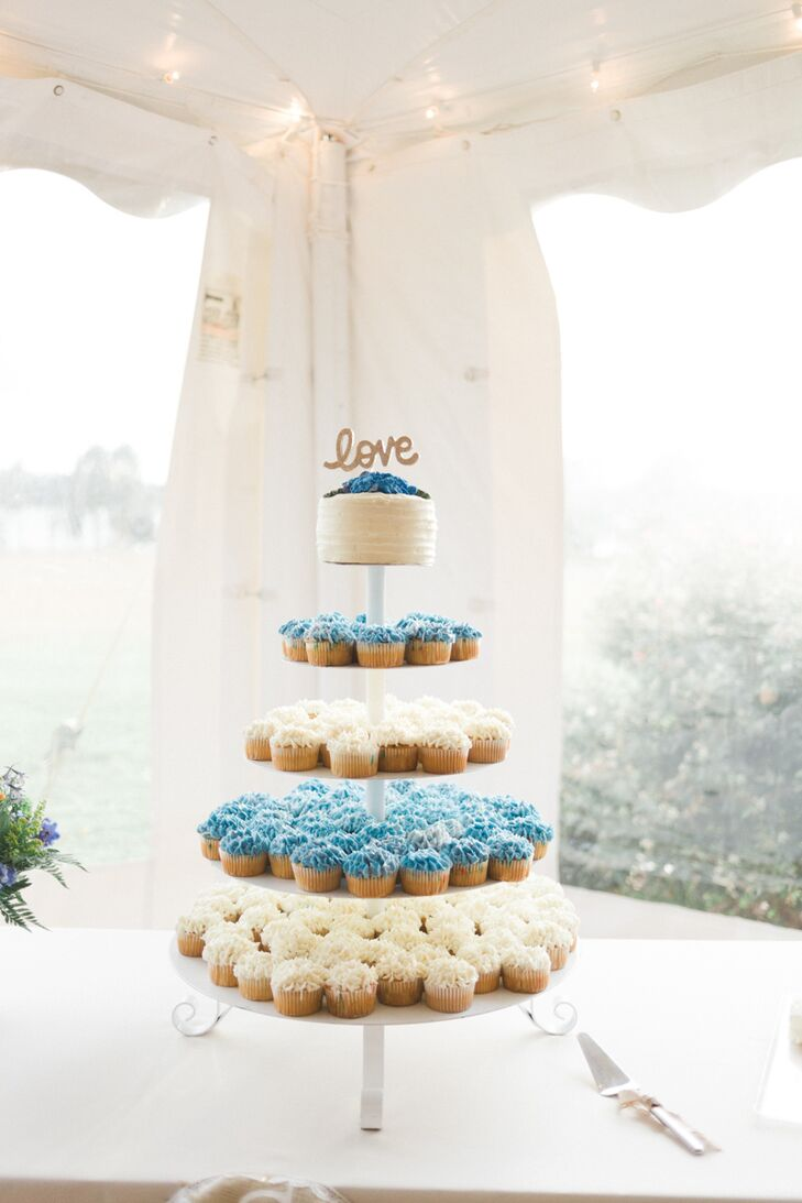 wedding cakes chestertown md blue and white wedding cupcakes 24063