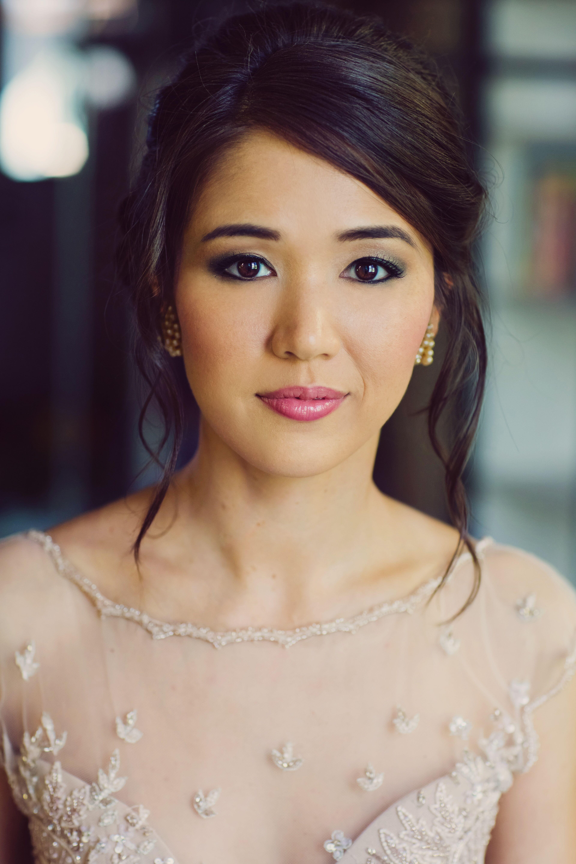 Natural Bridal Makeup With Pink Lipstick