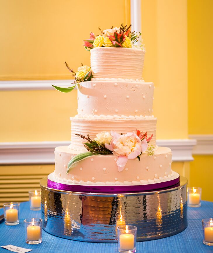 4 tier white wedding cake four tier white wedding cake 10426