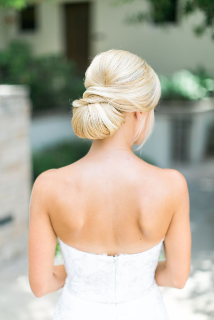 Excellent Classic Low Chignon Bridal Updo Hairstyle Inspiration Daily Dogsangcom