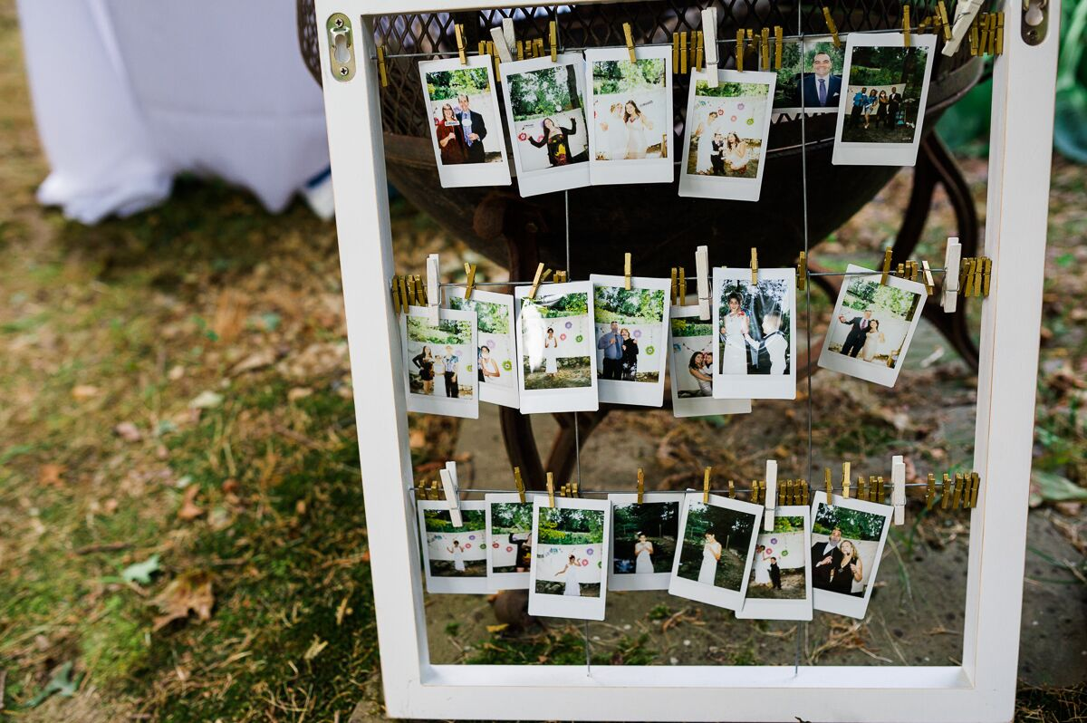 rustic photo booth polaroid display. Black Bedroom Furniture Sets. Home Design Ideas