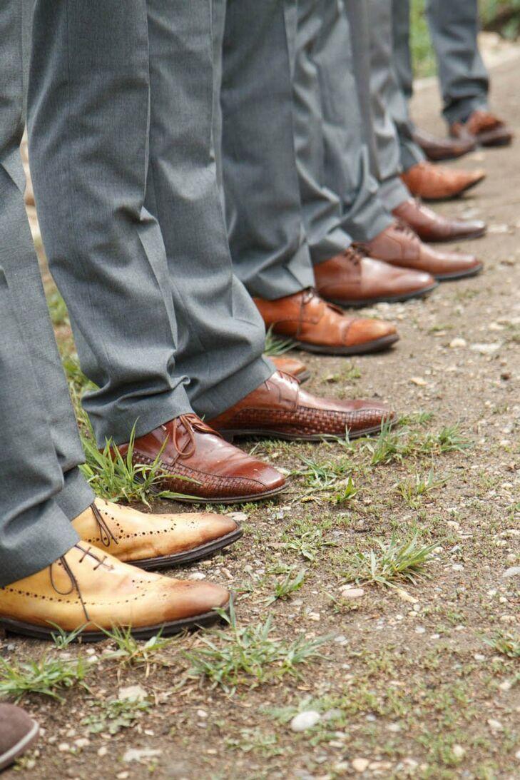Brown Groomsmen Shoes