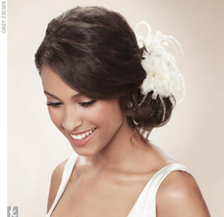 feather flower wedding accessory