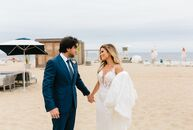 Corinne and Jason Daniels chose to wed on Montauk, Long Island. The location has a childhood connection for both: Jason's family had been vacationing