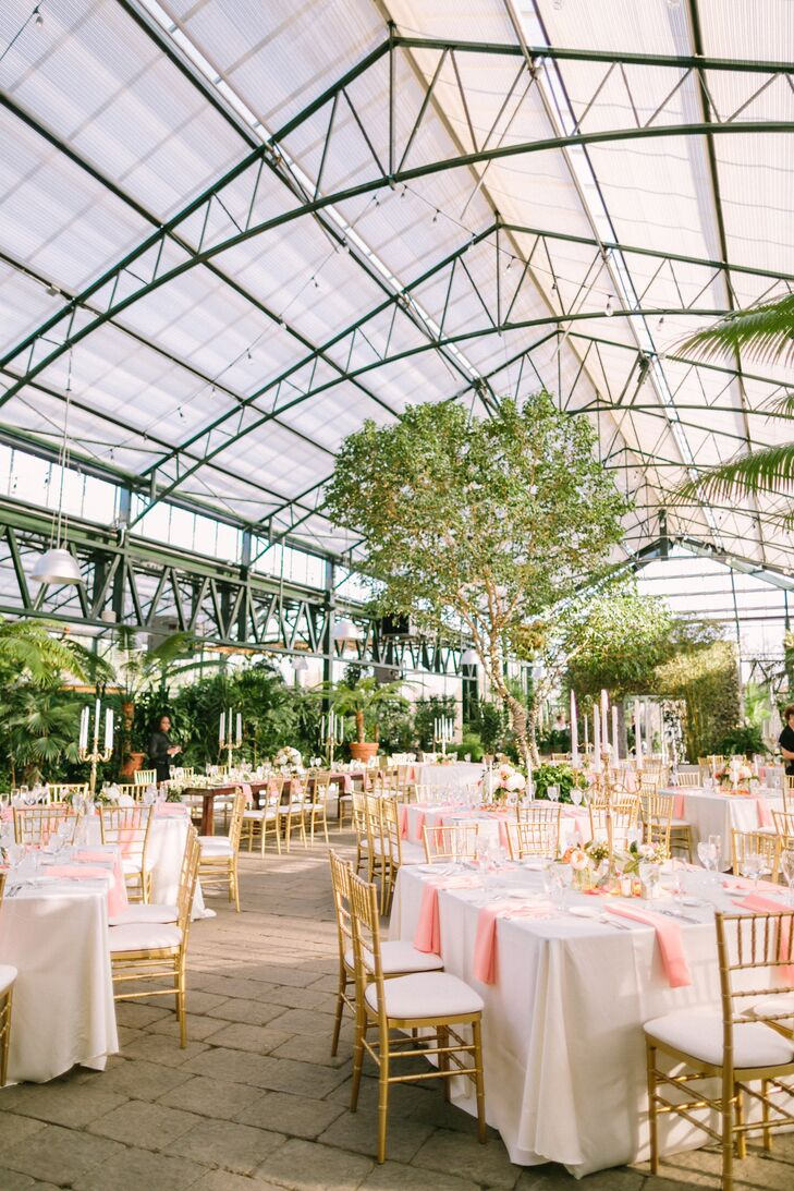 "According to Planterra's website, ""Lush foliage, curved European trusses and stone floors make Planterra an ideal nontraditional venue for a Hollywood-perfect wedding. On cloudless evenings, stars are visible through Planterra's dramatic glass ceiling."""