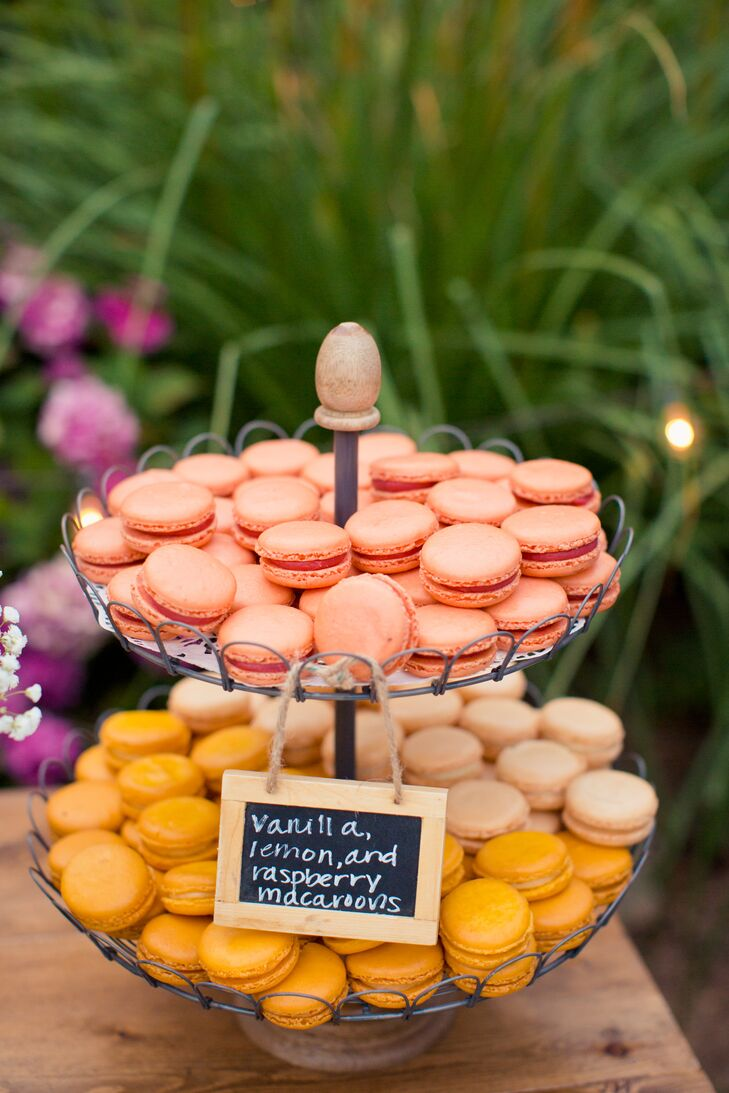 Vanilla, Lemon and Raspberry Macaron Assortment