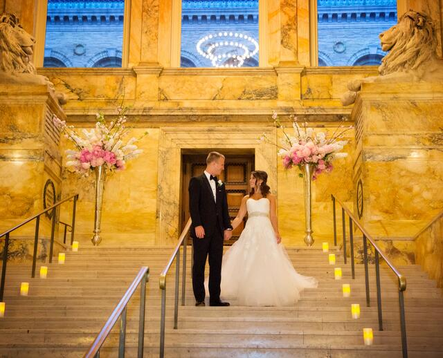 A Glam Traditional Wedding At Boston Public Library In Machusetts