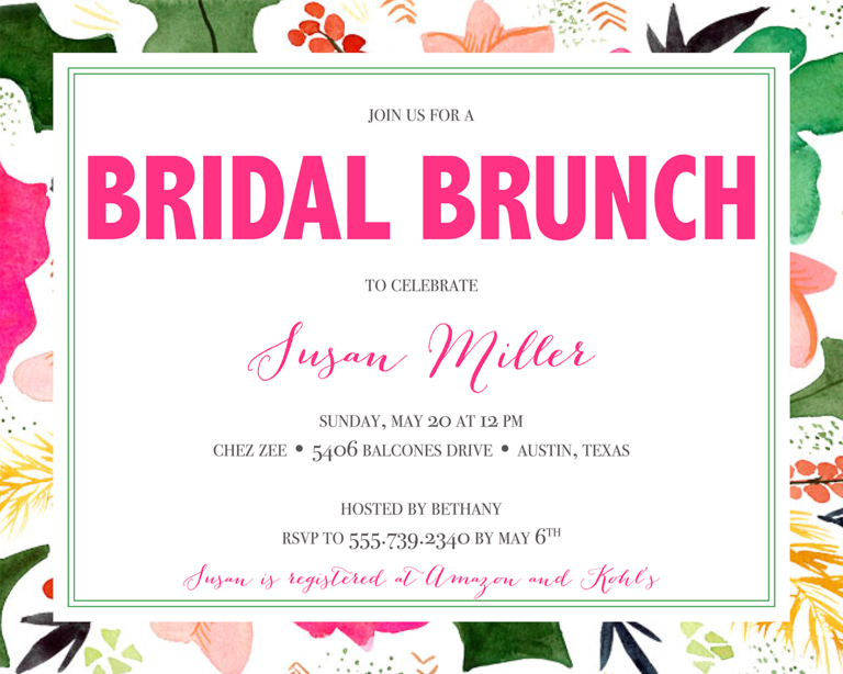 Marvelous Bridal Shower Invitation Wording Ideas  Bridal Shower Invitation Samples