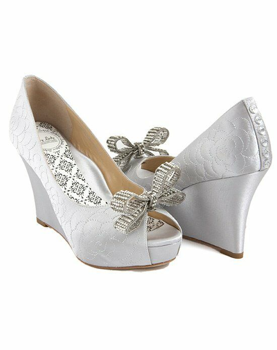 Hey Lady Shoes Lady Buttons garden wedge/little pearl bow Wedding Accessory photo
