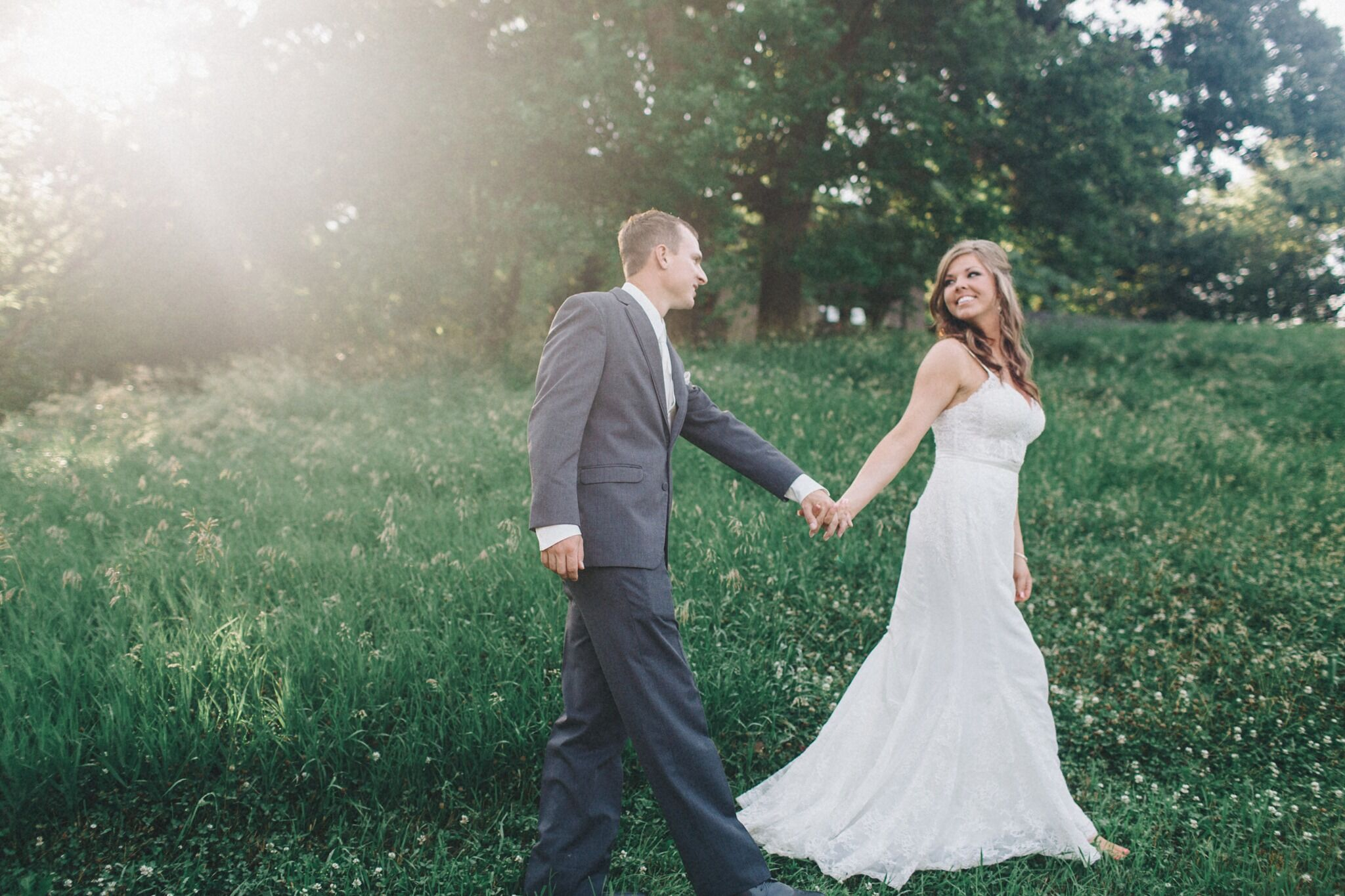 A Simple, Romantic Wedding at A View in Fontenelle Hills in Bellevue, Nebraska
