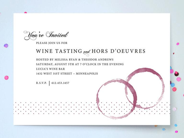 Wine-Themed Party Invitations