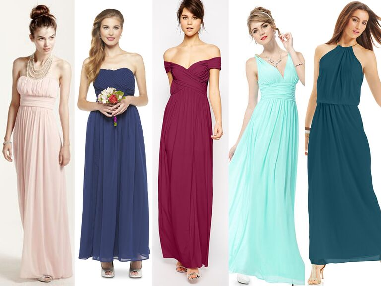 Cheap bridesmaid dresses 55 bridesmaid dresses under 100 for Long wedding dresses under 100