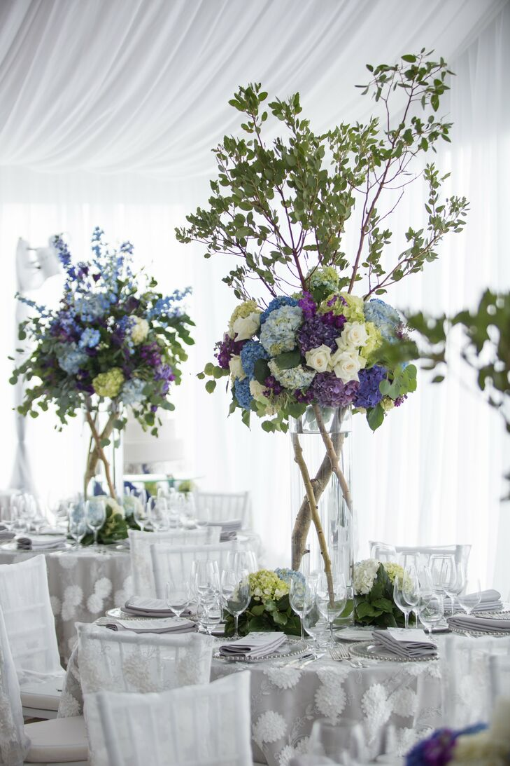 Tree Branch and Hydrangea Centerpieces