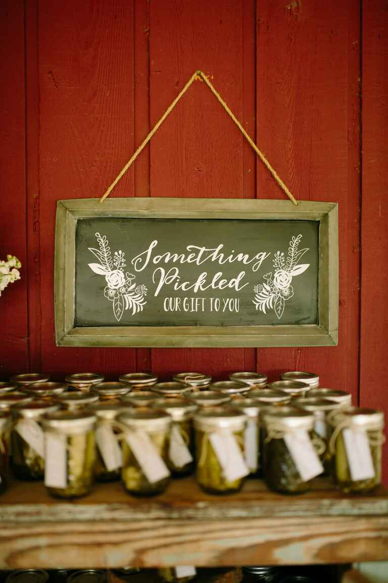 Picked wedding favor gifts