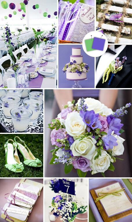 20 crazy color combos that actually work by theknot a very approachable and easy to execute combo purple looks so sweet when paired with soft green junglespirit Choice Image