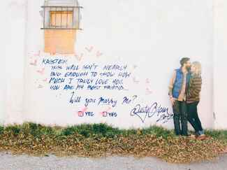 "Graffiti ""I Love You!"" marriage proposal"