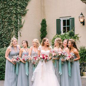 Slate Blue Convertible Jenny Yoo Bridesmaid Dresses