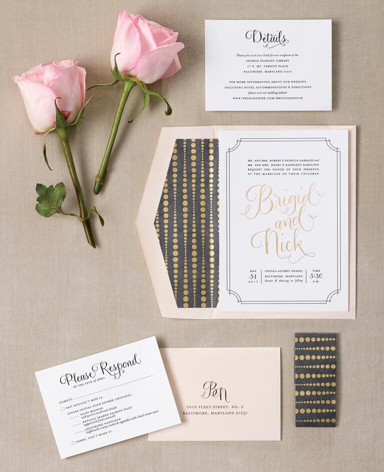 fabulous gold foil wedding invitations, Wedding invitations