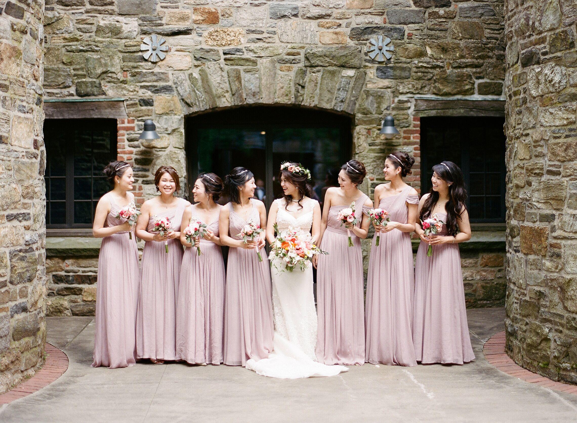 J.Crew Pale Mauve Bridesmaid Dresses