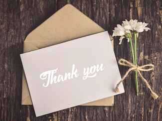 Wedding thank-you notes
