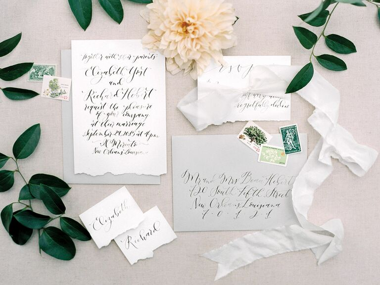 Gray save-the-dates