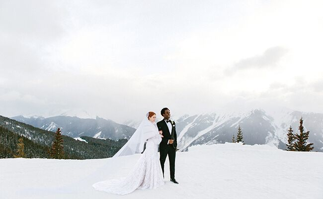 This Black-Tie Aspen Mountain Wedding is Seriously Chic