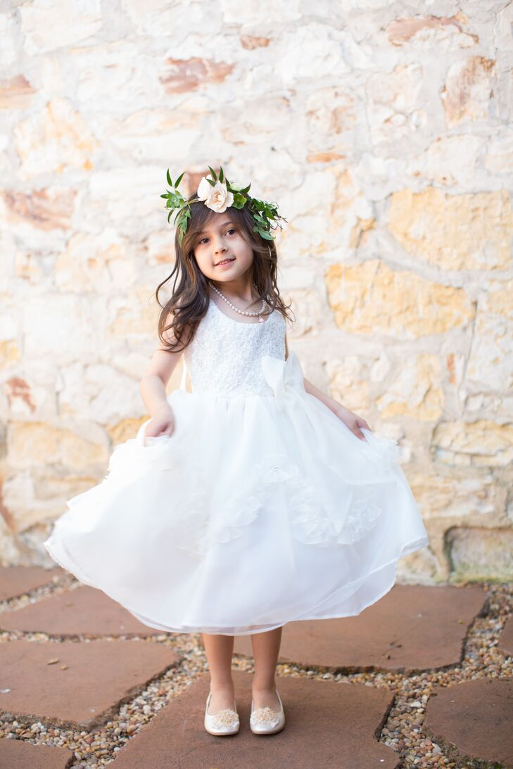 Ivory Flower Girl Dress and Crown