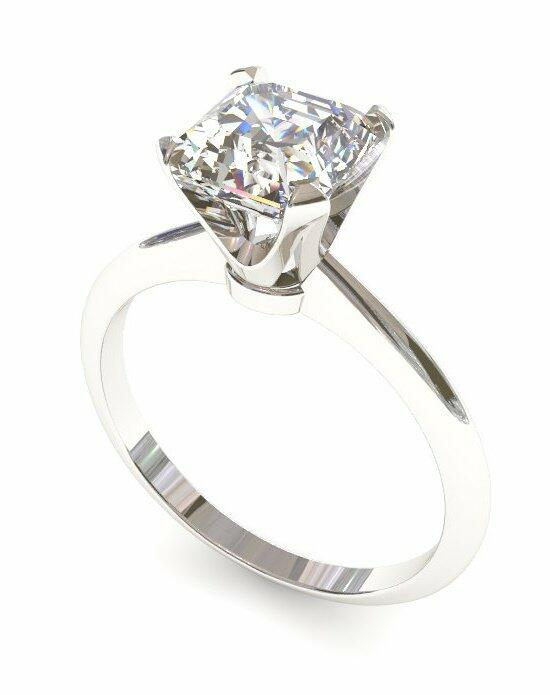 Enchanted Diamonds Asscher Knife Edge Solitaire SL4-4W-A Engagement Ring photo