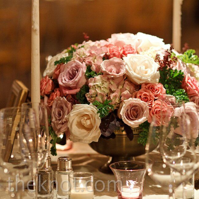 Low rose centerpieces