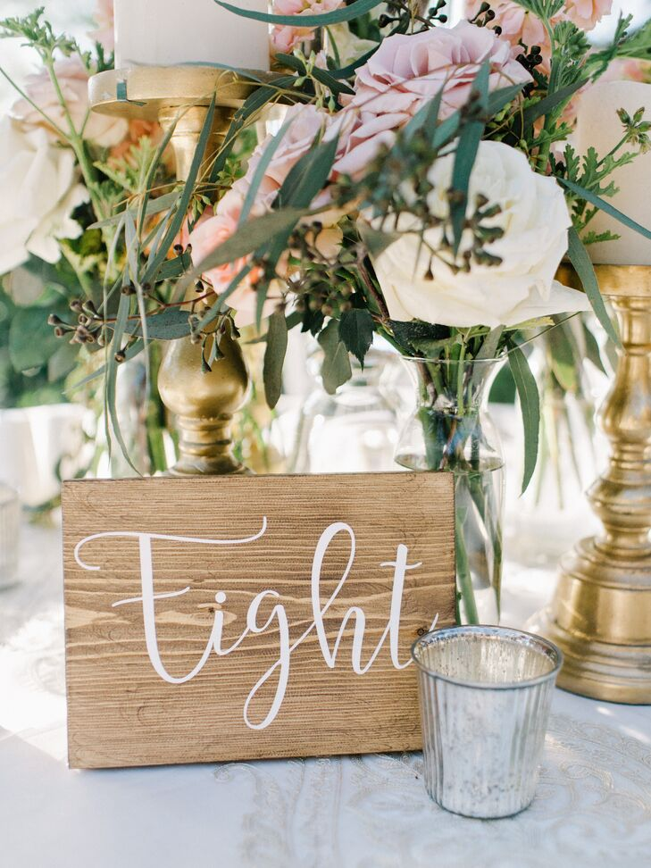 Hand-Lettered Wooden Table Numbers
