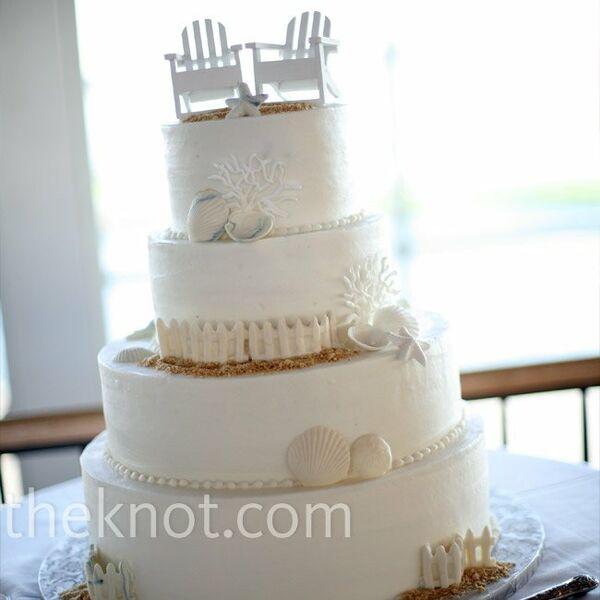 Beach wedding cakes beach theme cake junglespirit Image collections