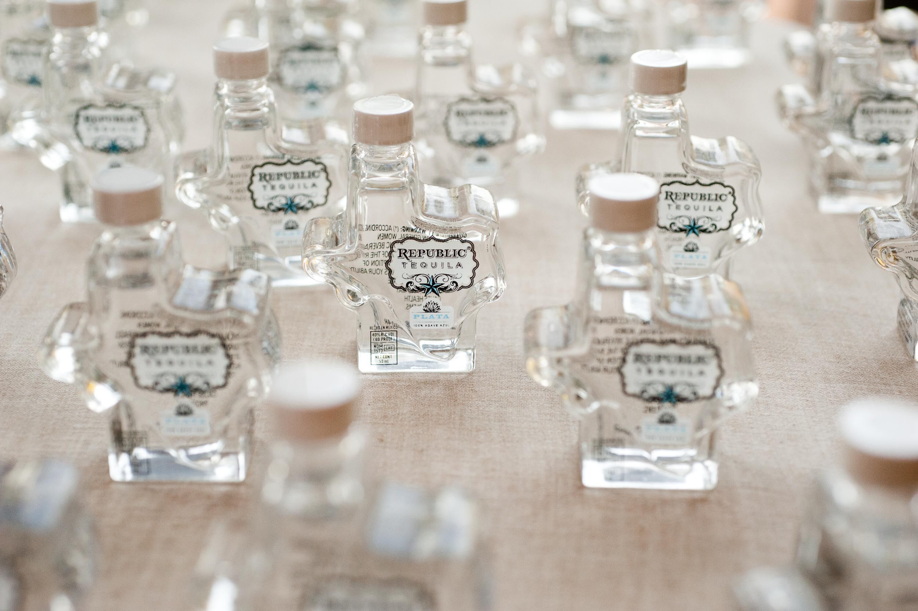 Texas Shaped Tequila Favors