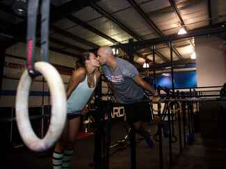 Crossfit Gym Engagement Photo Session