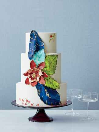Betty Bakery illustrated wedding cake