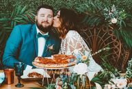 "Kaylyn Ragsdale and Adam Kakuska's spring soiree was the perfect blend of bohemian chic and low-key cool. ""I wanted our wedding to be unique—trendy, y"