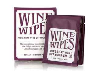 Wine Wipes teeth cleaning packs