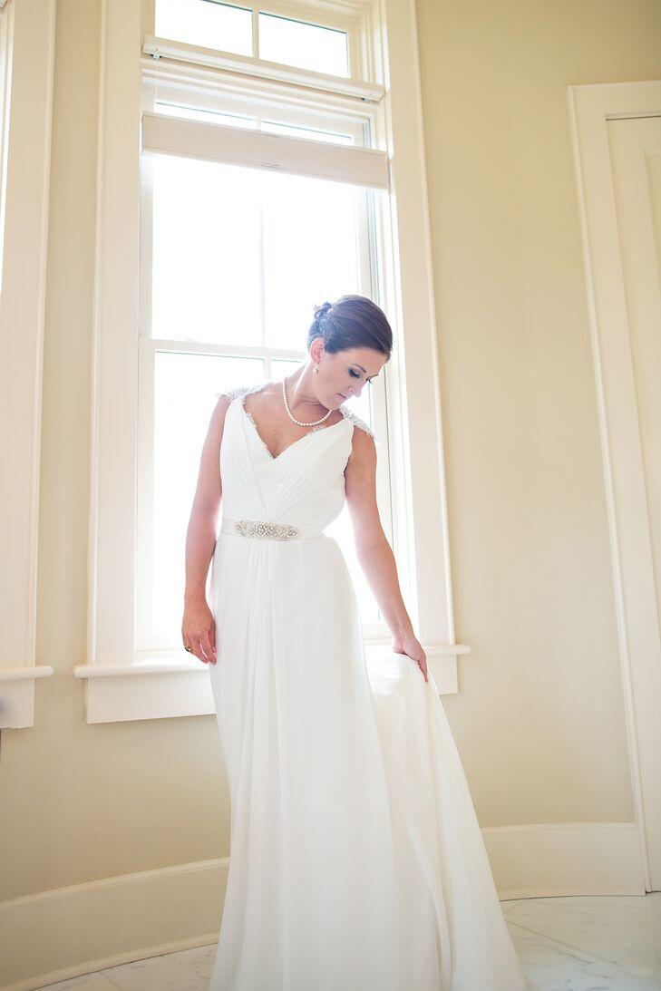 A-Line Wedding Dress With Queen Anne Neckline