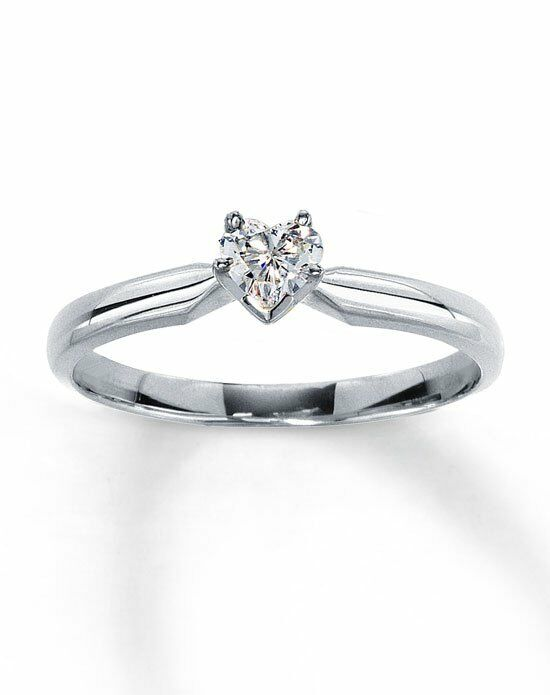 Kay Jewelers Diamond Solitaire Ring 1/4 ct Heart-Shaped 14K White Gold-161228705 Engagement Ring photo